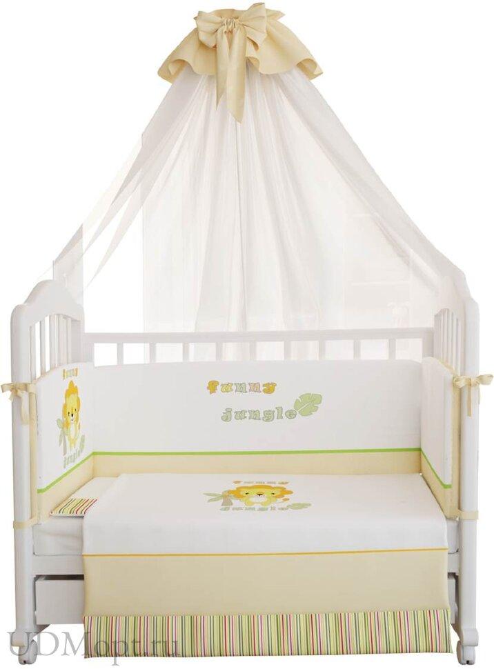 """Комплект в кроватку Polini kids """"Джунгли"""" 7 предметов 140х70 оптом и в розницу"""