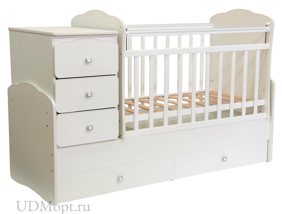 Кровать детская Фея 2100 слоновая кость оптом и в розницу