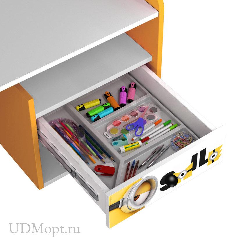 Стол письменный Polini kids Fun 1000 Миньоны, желтый оптом и в розницу