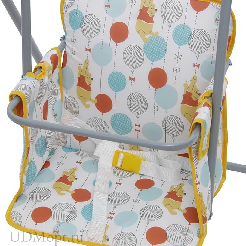 """Качели Polini kids Disney baby Медвежонок Винни """"Чудесный день"""", желтый оптом и в розницу"""