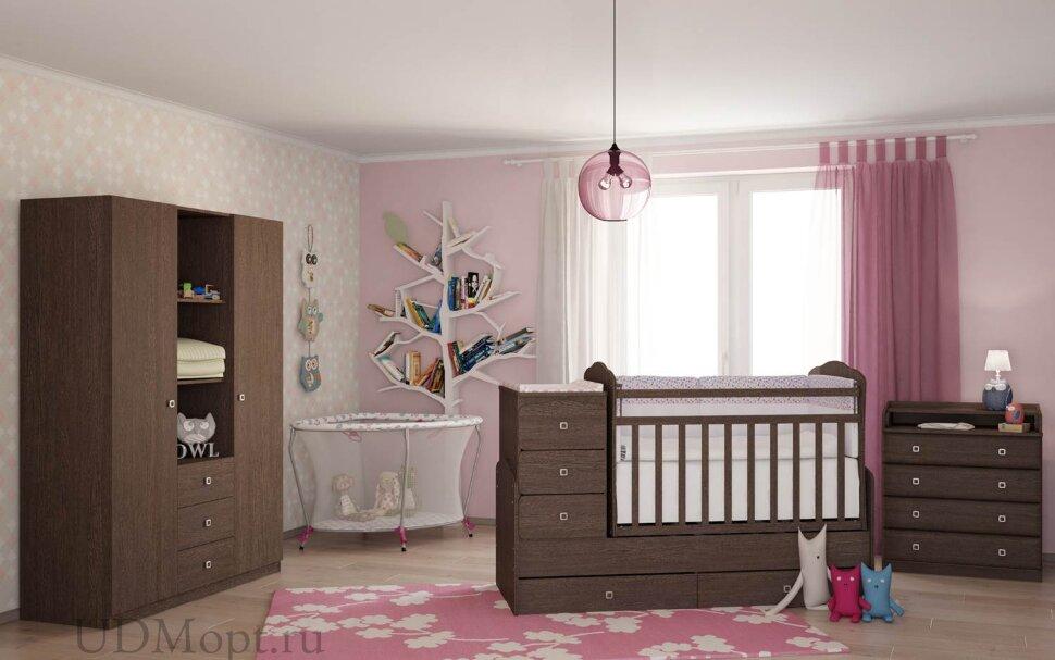 Кровать детская Фея 2100 венге оптом и в розницу
