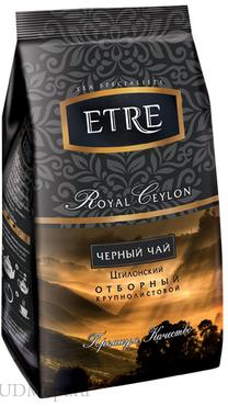 «ETRE», royal Ceylon чай черный цейлонский крупнолистовой, 200г оптом и в розницу