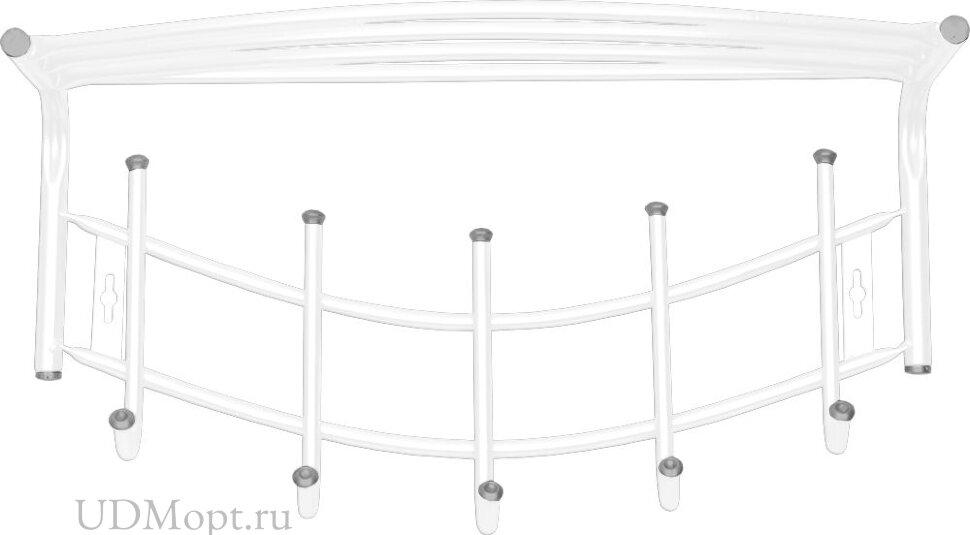 Вешалка настенная металлическая Ника-Премиум 4 оптом и в розницу