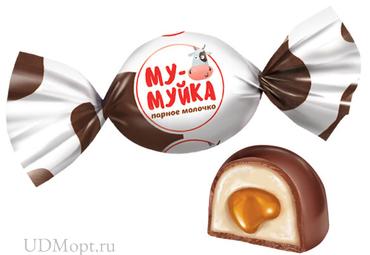 Конфета «Му-муйка» парное молочко (упаковка 1кг) оптом и в розницу