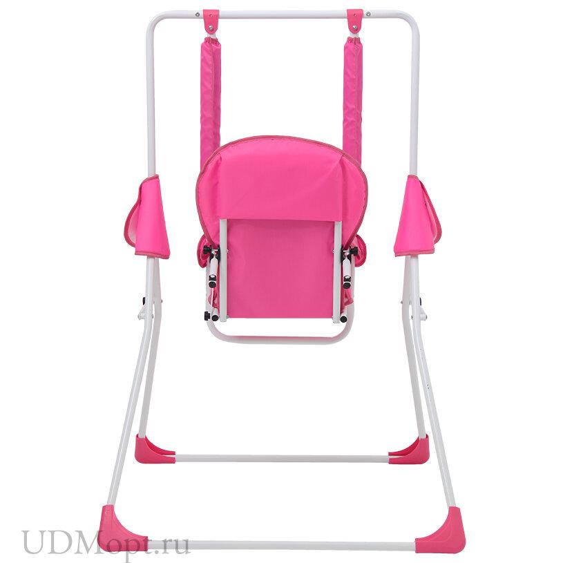 Качели Polini kids Disney baby Минни Маус, с вышивкой, розовый оптом и в розницу