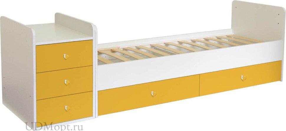 Кроватка детская Фея 1100 белый-солнечный оптом и в розницу