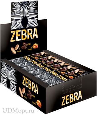 Вафли «Zебра», глазированные, 40г оптом и в розницу
