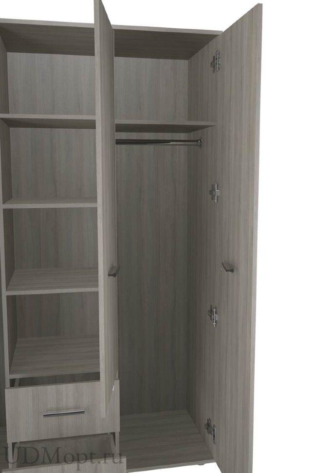 Шкаф трехсекционный Polini kids Simple Nordic, вяз оптом и в розницу
