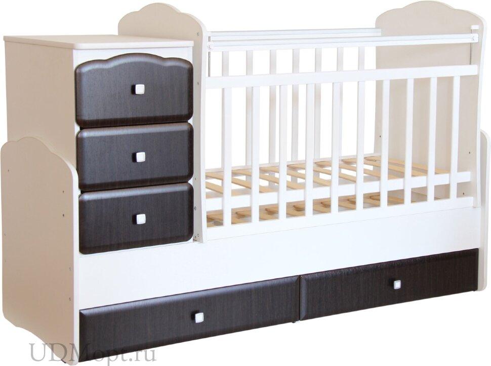 """Кровать детская Фея 2150 белый-венге """"Классика"""" оптом и в розницу"""