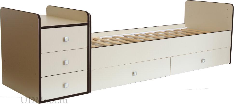 Кроватка детская Фея 1100 бежевый кромка венге оптом и в розницу