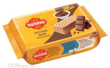 «Яшкино», вафли «Шоколадные», 200г оптом и в розницу