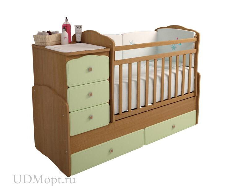 """Кровать детская Фея 2150 бук-оливковый """"Кант"""" оптом и в розницу"""