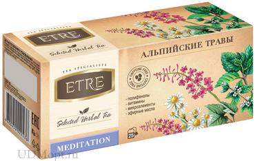 «ETRE», чайный напиток Meditation Альпийские травы, 37г оптом и в розницу