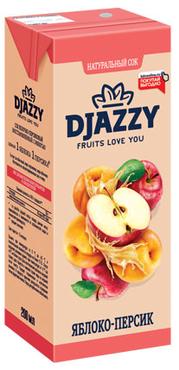 «Djazzy», сок яблоко-персик, 200мл оптом и в розницу