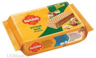 «Яшкино», вафли «Ореховые», 200г оптом и в розницу