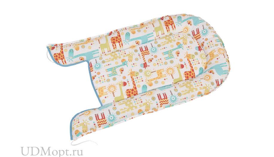 Бортик детский Гнездышко Polini kids Жирафы, голубой оптом и в розницу
