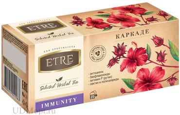 «ETRE», чайный напиток Immunity каркаде, 37г оптом и в розницу