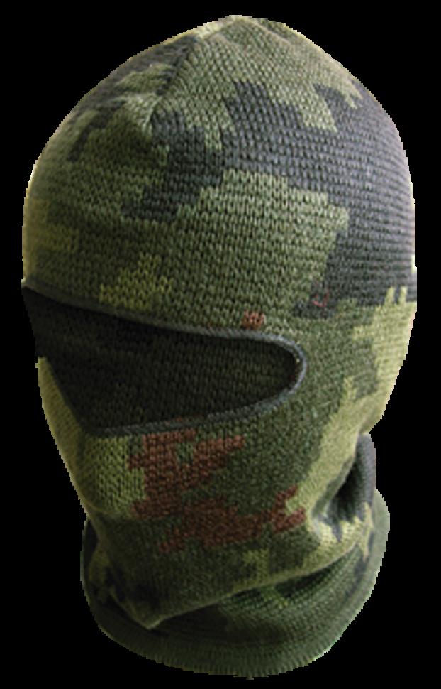 ***Шлем-маска Тайга / п/шерсть / зеленый оптом и в розницу