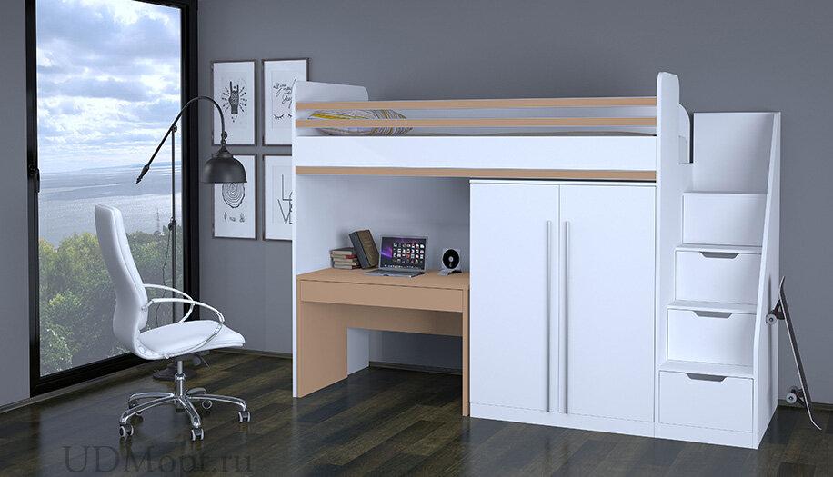 Декоративный элемент для кровати-чердака Polini kids City, макиато оптом и в розницу