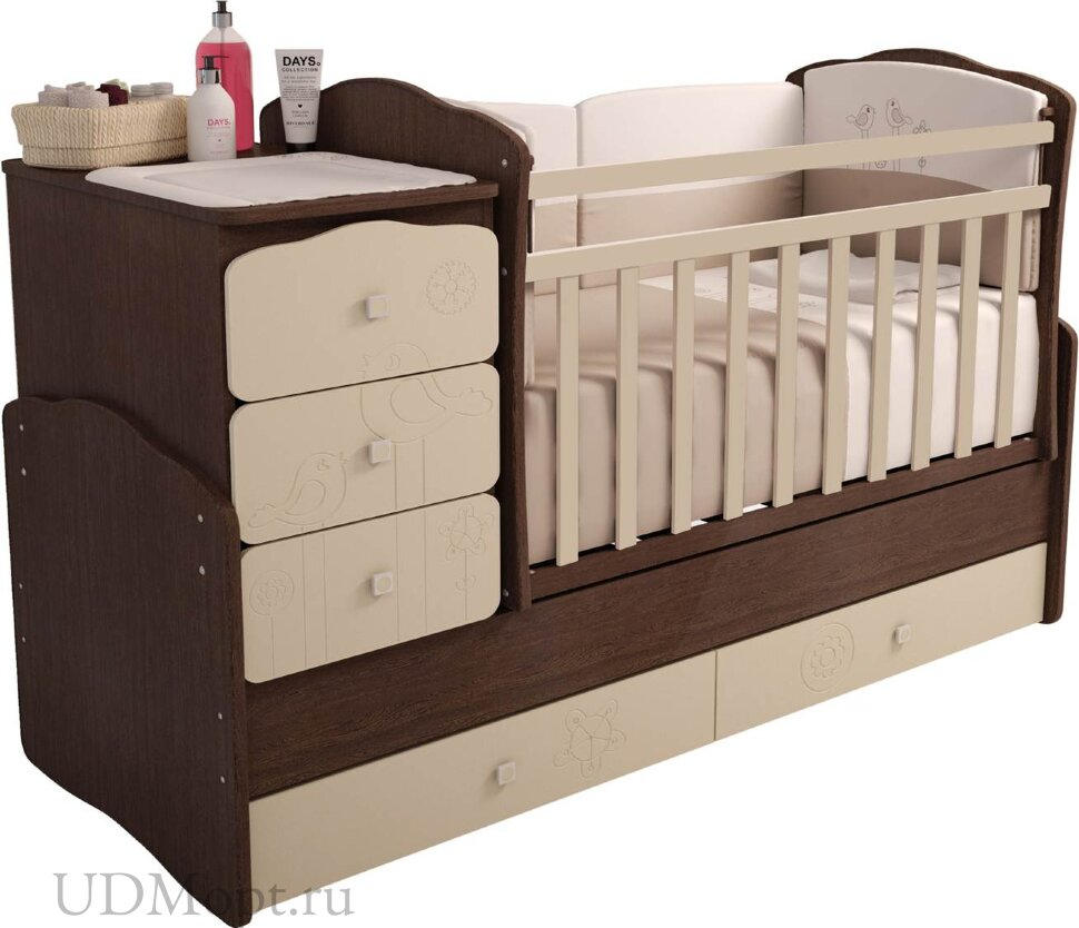 """Кровать детская Фея 2150 венге-бежевый """"Волшебная полянка"""" оптом и в розницу"""
