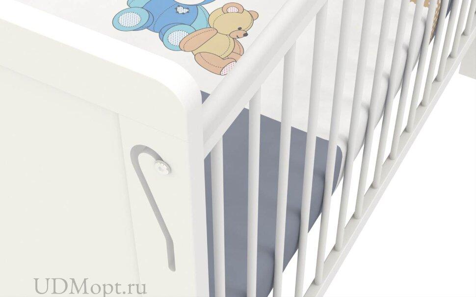 Кроватка детская Polini kids Simple 220, белый оптом и в розницу