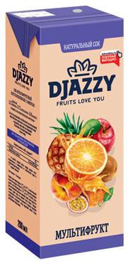 «Djazzy», сок мультифруктовый, с мякотью, 200мл оптом и в розницу
