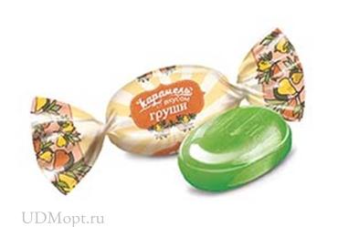 Карамель со вкусом груши (упаковка 1кг) оптом и в розницу