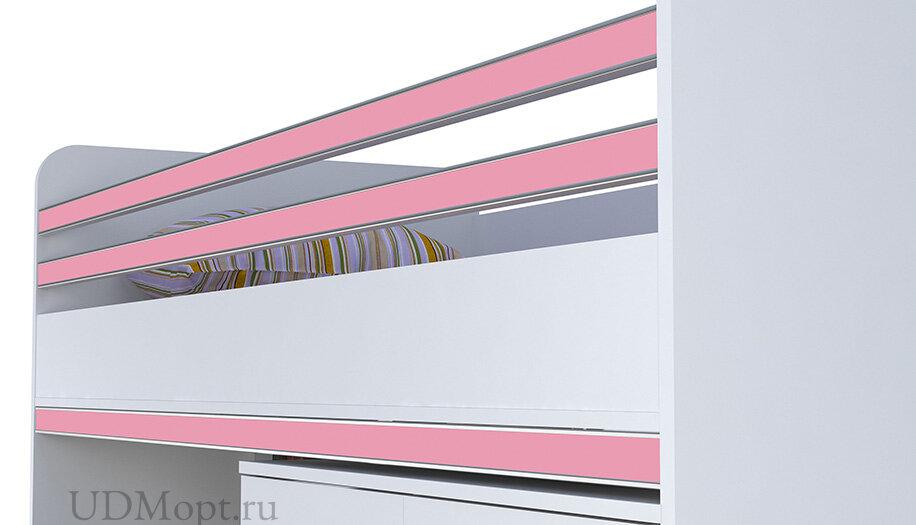 Декоративный элемент для кровати-чердака Polini kids City, роза оптом и в розницу