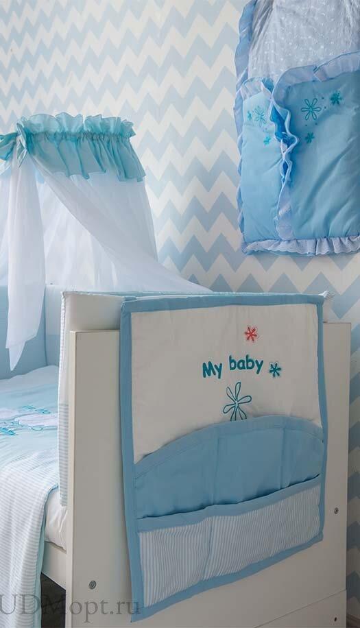 """Карман на кроватку Fairy """"Белые кудряшки"""" оптом и в розницу"""