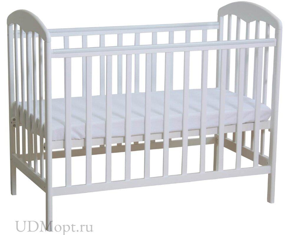 Кроватка детская Polini kids Simple 323 белый оптом и в розницу