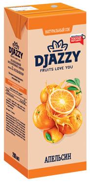 «Djazzy», сок апельсиновый, с мякотью, 200мл оптом и в розницу