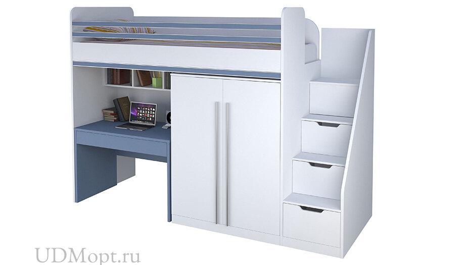 Декоративный элемент для кровати-чердака Polini kids City, синий оптом и в розницу