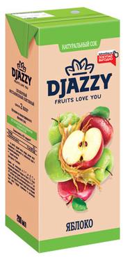 «Djazzy», сок яблочный, 200мл оптом и в розницу
