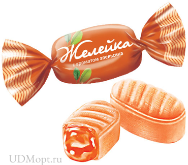 Карамель «Желейка» со вкусом апельсина (упаковка 1кг) оптом и в розницу