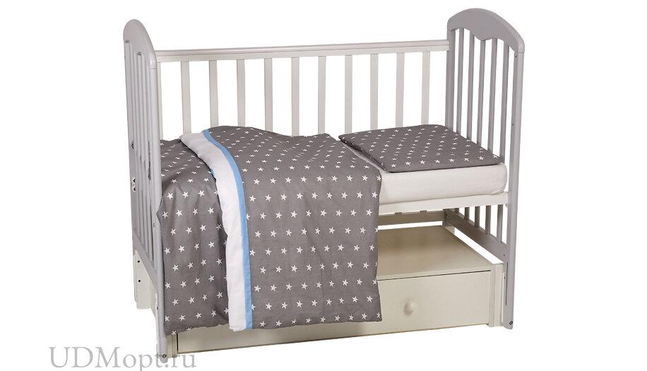 Комплект постельного белья Polini kids Disney Baby Микки Маус, серый оптом и в розницу