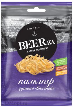 «Beerka», кальмар сушёно-вяленый, 38г оптом и в розницу