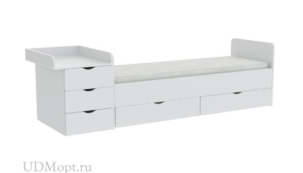 Кроватка детская ФЕЯ 1150, белый оптом и в розницу