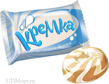 Карамель «Кремка» с молочным вкусом (упаковка 1кг) оптом и в розницу