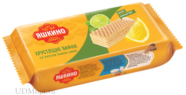 «Яшкино», вафли «Лимон-Лайм», 300г оптом и в розницу