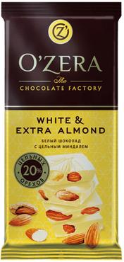 «OZera», шоколад White and Extra Almond, 90г оптом и в розницу