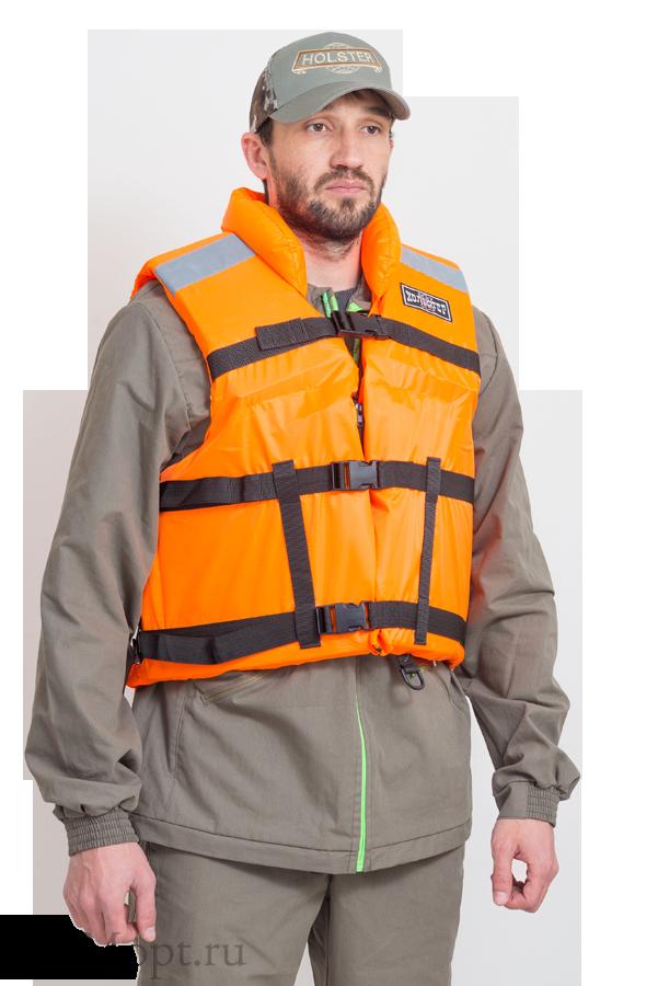 Жилет рыбацкий поддерживающий / ткань синтет / оранжевый ((58-62)) оптом и в розницу