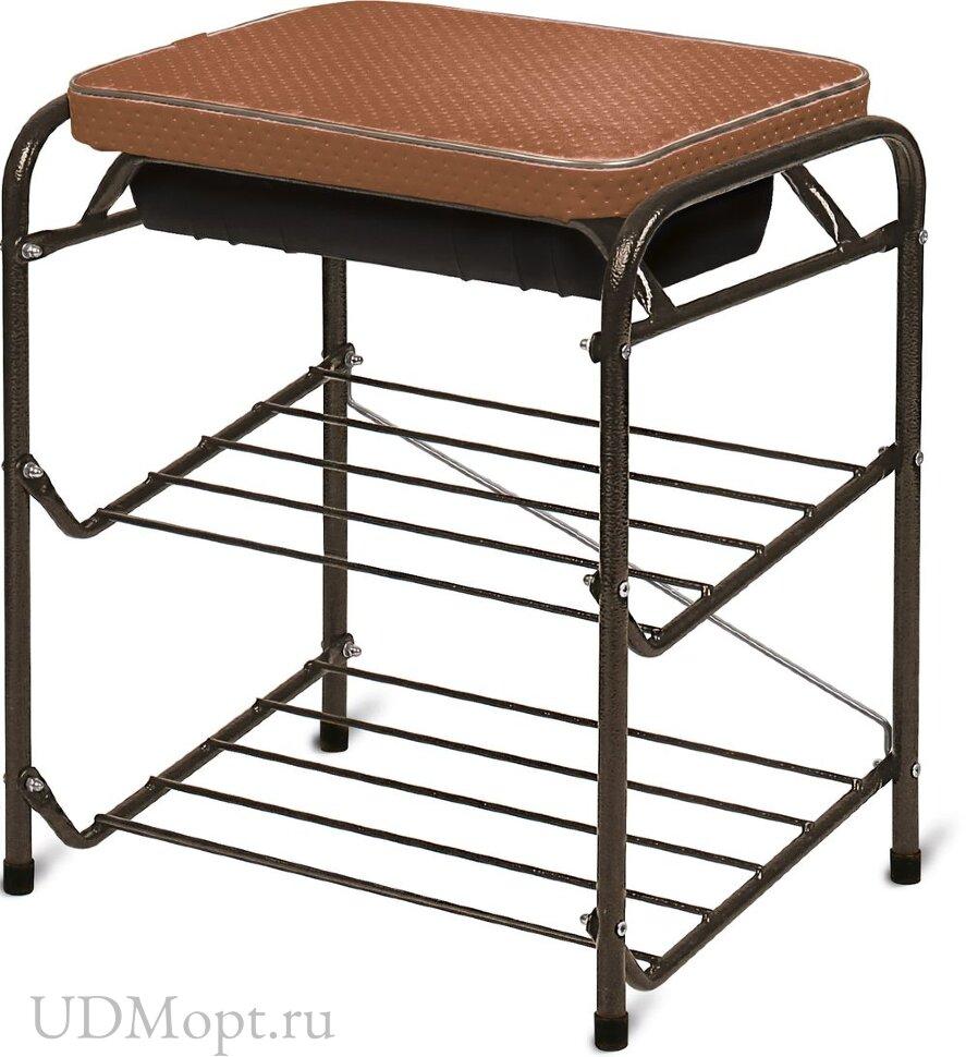 Банкетка для обуви с мягким сиденьем и ящиком оптом и в розницу