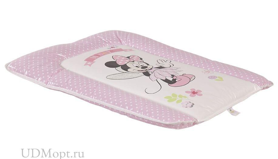 Матрас для пеленания Polini Kids Disney baby Минни Маус Фея, 70х50 см, розовый оптом и в розницу