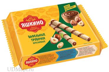 «Яшкино», трубочки вафельные «Ореховые», 190г оптом и в розницу