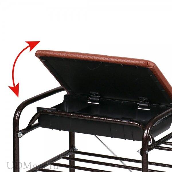 Этажерка для обуви Люкс с ящиком оптом и в розницу