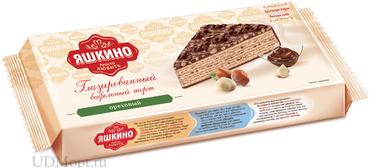 «Яшкино», торт вафельный с орехом, глазированный, 250г оптом и в розницу