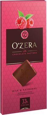 «OZera», шоколад молочный с кусочками малины Milk & Raspberry, 100г оптом и в розницу
