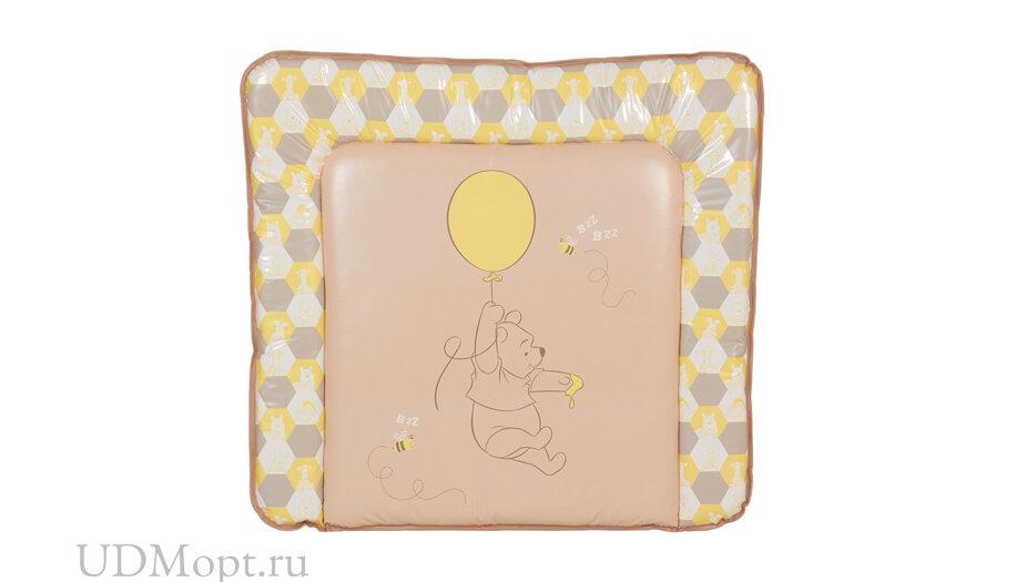 Матрас для пеленания Polini kids Disney baby Медвежонок Винни, 77х72 см, макиато-желтый оптом и в розницу