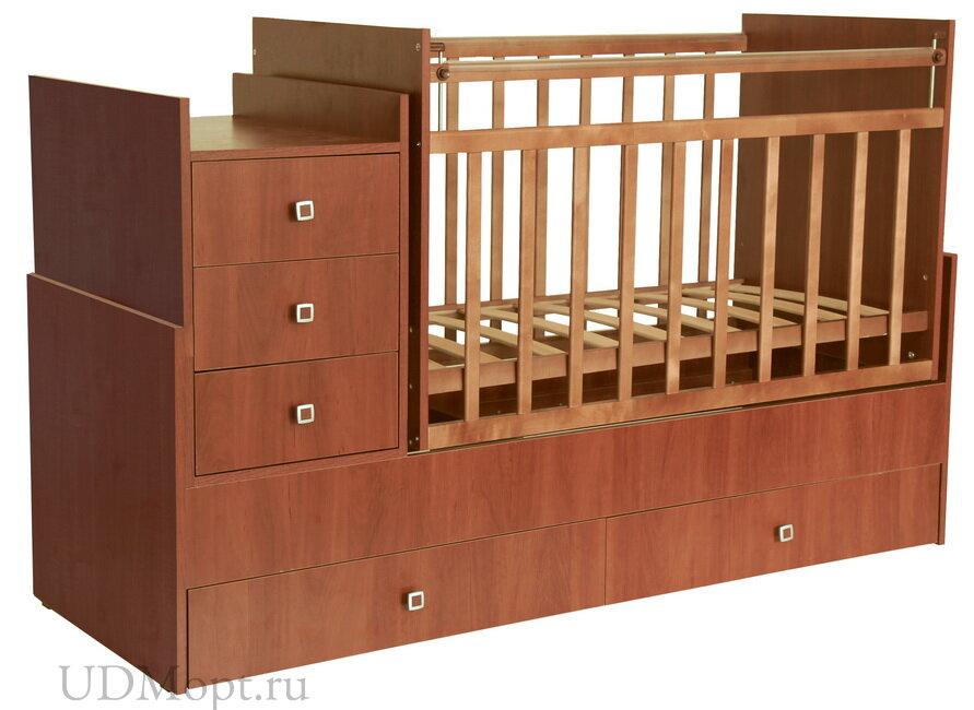 Кроватка детская Фея 1200 орех оптом и в розницу