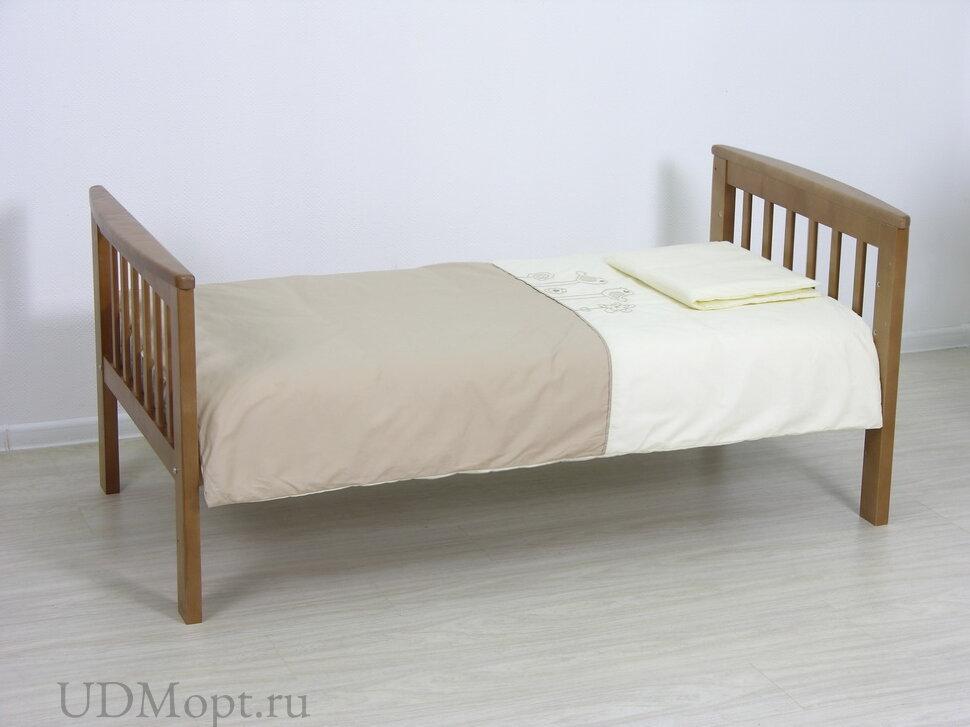 Детская кровать-трансформер Фея 800 медовый оптом и в розницу